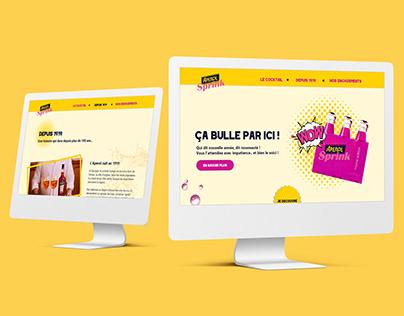 Web design : Aperol Sprink