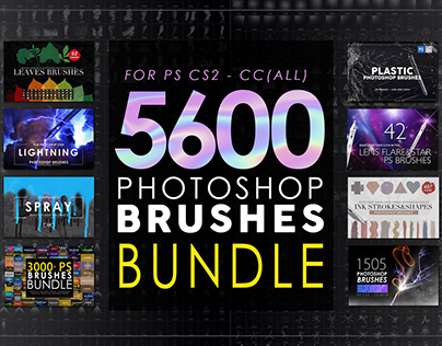 5600 Photoshop Brushes Mega Bundle