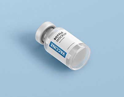 Vaccine Bottle Mockup