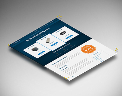 Affiliate Site Review page design