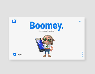 Boomey Landing Page Concept
