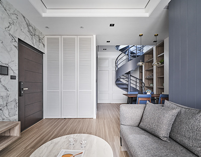 DA JIU Interior Design|Blue Stairs