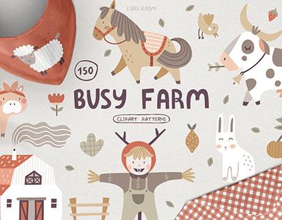BUSY FARM l Kids illustrations