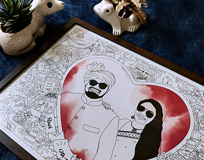 Anniversary Art (Intricate Doodle Frame)