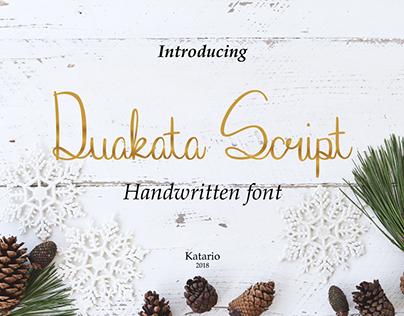 Duakata Script - Handwritten Font