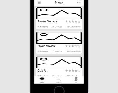 Meetups/Outings Scheduler App