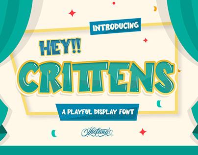 Crittens Playful Display Font