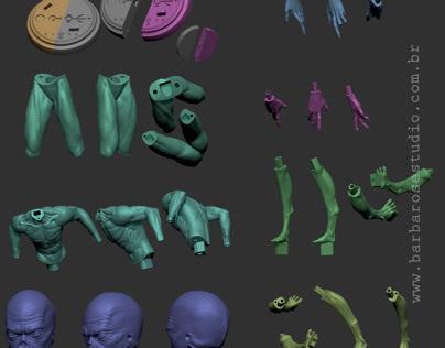 Alien filme sinais impressão 3D