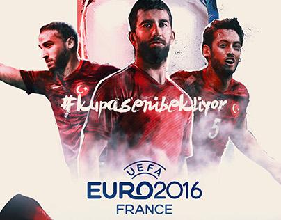 Euro 2016 Poster  #kupasenibekliyor