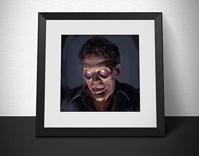 Evil Dead oil painting
