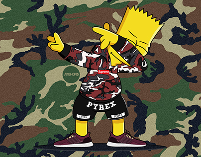 Dabbin' Bart Simpson ❌ Supreme ❌ Adidas Ultra Boost
