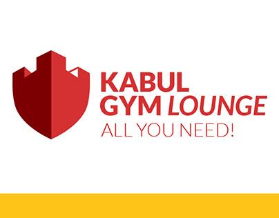 Kabul Gym Lounge Logo & branding