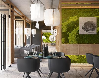 Japanese restaurant project, Kiev, Ukraine