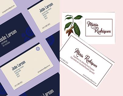 Design - Cartões de visita
