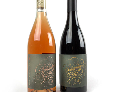 Spinning Gold Wine Labels