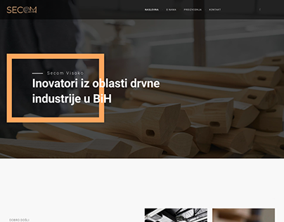 New website for Secom d.o.o. Visoko