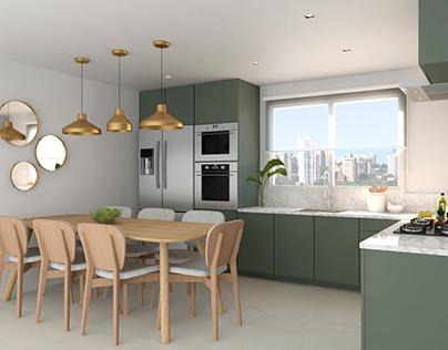 Cozinha verde que combina com você