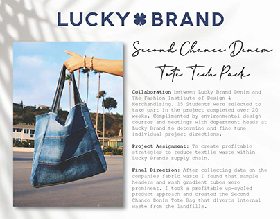 Lucky Brand Sustainability Collaboration- Tech Pack