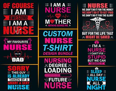 Custom Nurse T-shirts Design