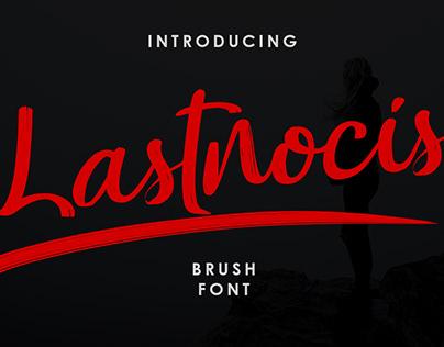 Lastnocis - Brush Font