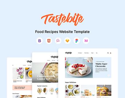 Tastebite - Food Recipes Website Template