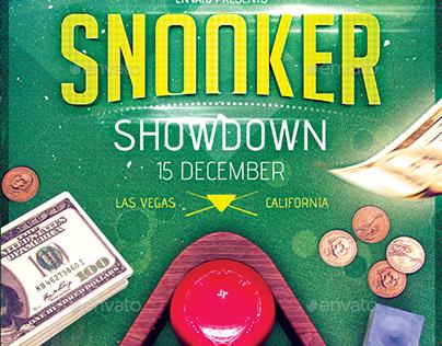 Snooker / Eight Ball Pool - Flyer Template