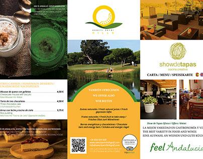 Cartas restaurante campo de golf
