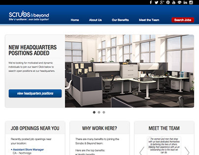 Scrubs & Beyond Careers website