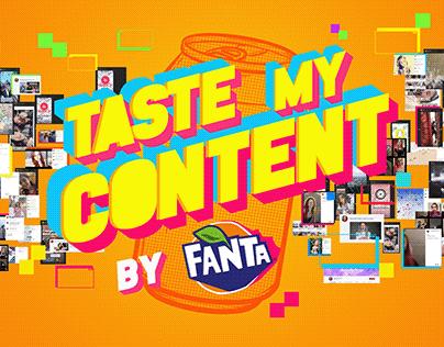 Taste my content - Fanta