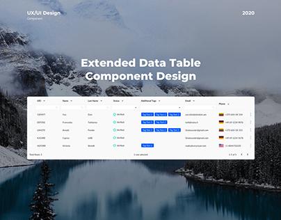 Extended Data Table Design