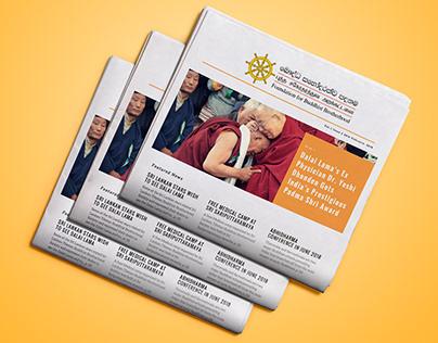 Buddhist Brotherhood - Newsletter Design