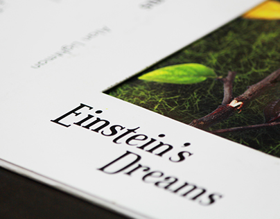 Einstein's Dreams - Book Cover Design