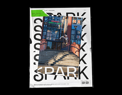 SPARK Skateboard Magazine - Editorial Design