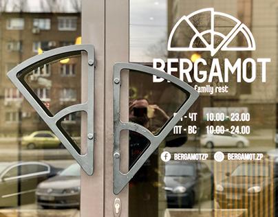 Identity and VIS for the restaurant BERGAMOT