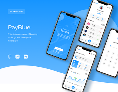 UI/UX Mobile Banking App PayBlue