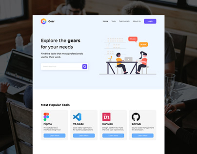 Landing Page concept for Gear by BWA