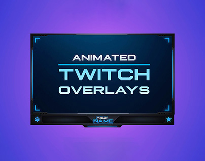 Animated Twitch Overlays (Webcam/Facecam) with Chat Box
