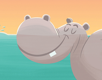 Custom Hippo Print