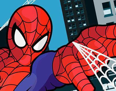 Spider-man on Adobe Illustrator on iPad