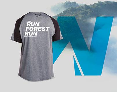 TEAM RUN FOREST RUN | Logo and t-shirt