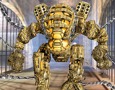 Robot prisoner attack on jail