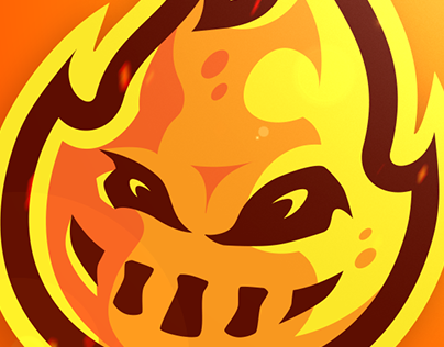 Mad Artz Official Mad Fireball Mascot Logo Design (c)