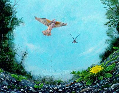 """Early Spring, Taking Flight"""