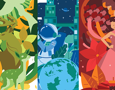 Discovery Networks Asia-Pacific Illustrations