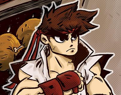 Ryu vs Chun-Li - Capcom Fighting Tribute 2015