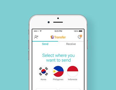KEB Hana Bank, 1Q Transfer App