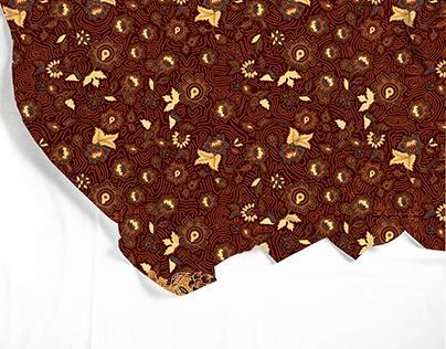 Motif Batik Jokowi floral