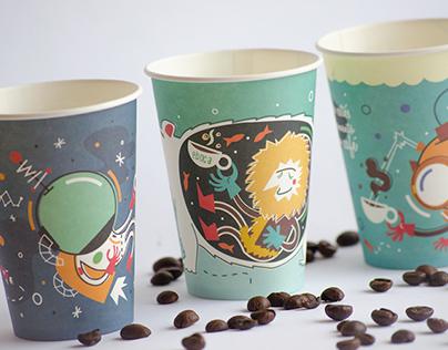 Diseño vasos café Eboca // Coffee paper cups