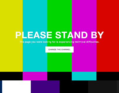 "Freebie: ""Please Stand By"" 404 Error Page"