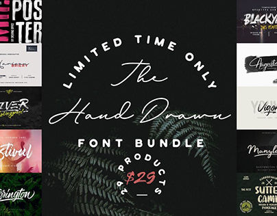 THE HAND DRAWN FONT BUNDLE - LIMITED TIME ONLY